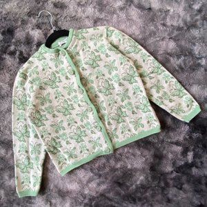 VTG 40's Butterfly Knit Cardigan